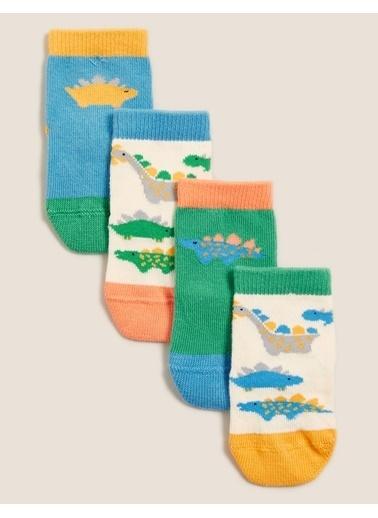 Marks & Spencer Dinozor Desenli Çorap Mavi